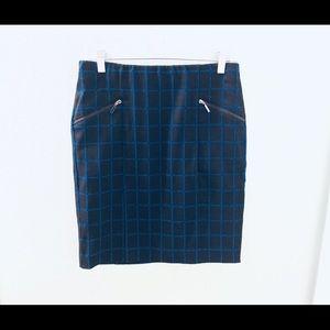 Alfani Window Pane Check Pencil Skirt w/pockets
